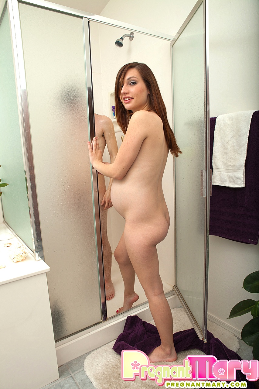 Pregnant shower nude